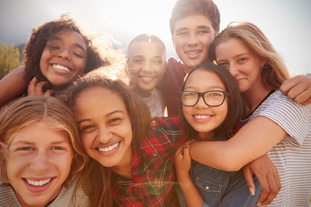 Acton Academy, Acton Seacoast,Teenage,School,Friends,Smiling,To,Camera,Close,Up